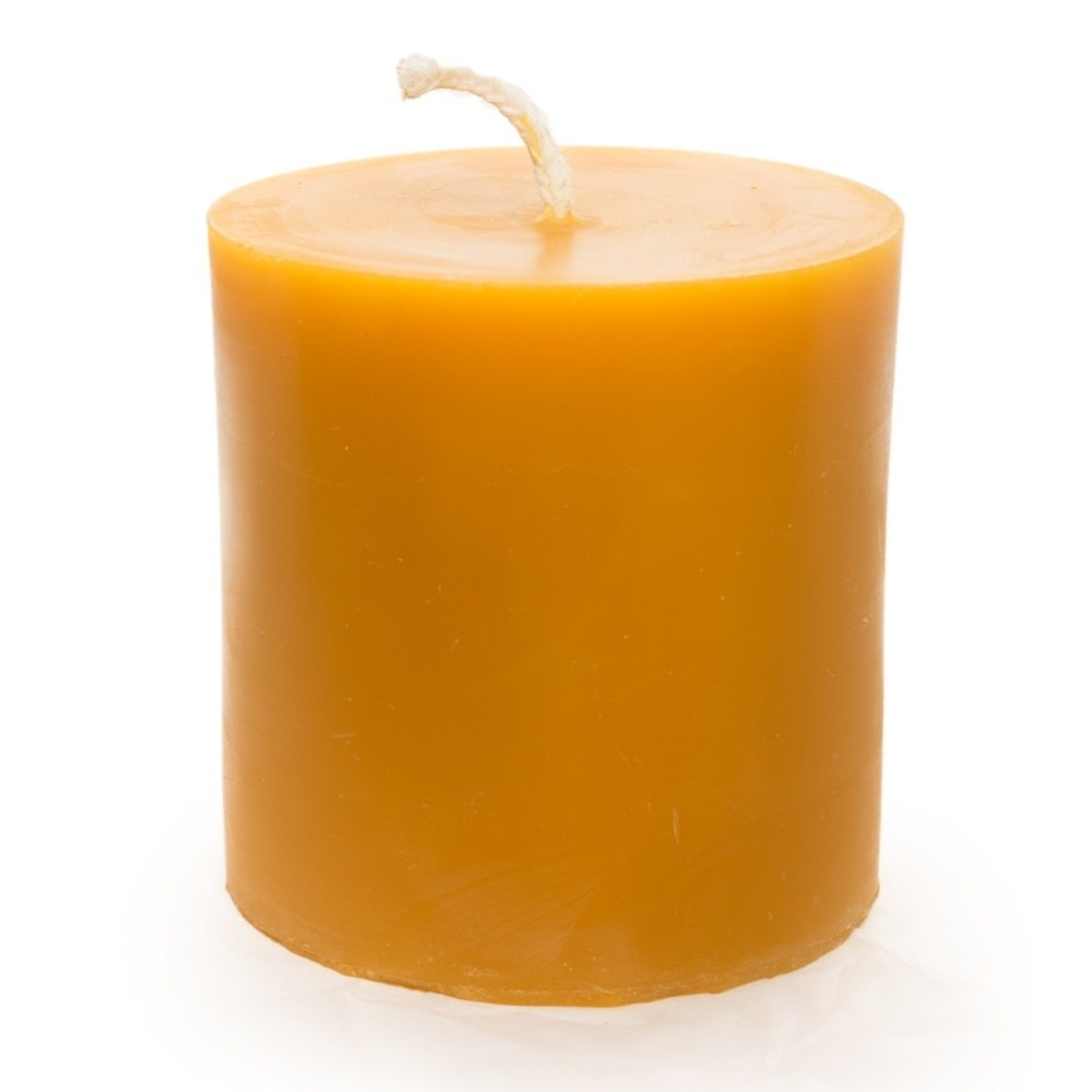 3-Inch Cylinder Beeswax Candle