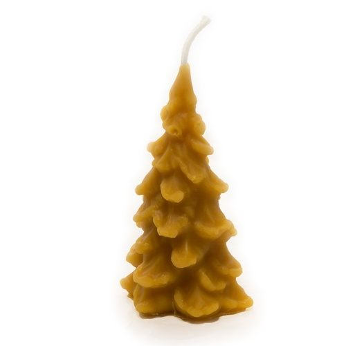 Small Christmas Tree Beeswax Candle
