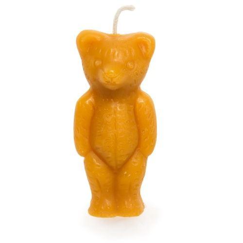 Teddy Bear Beeswax Candle