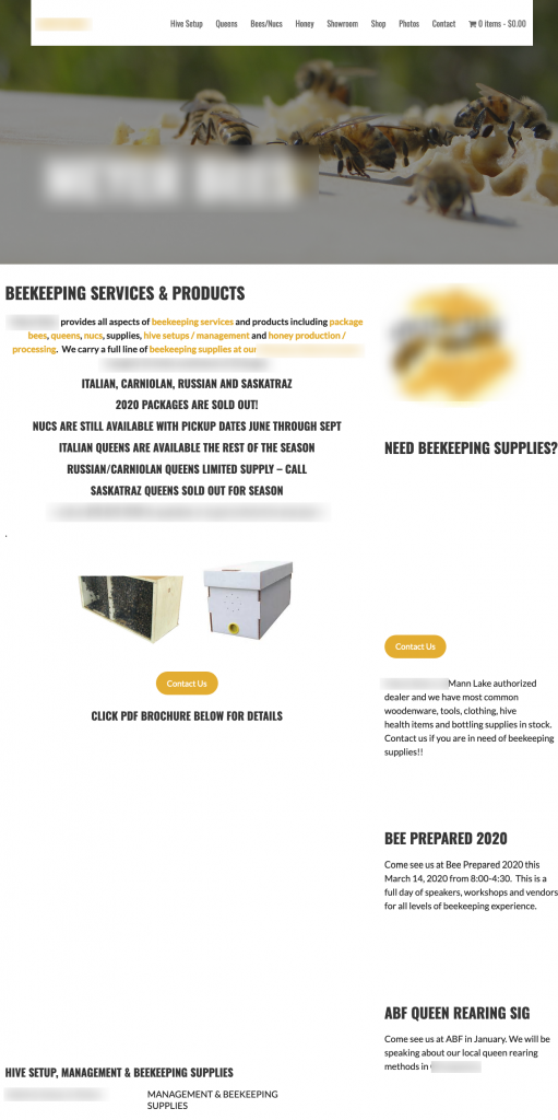 Bad Beekeeping Website 1 1 | Bear Country Bees